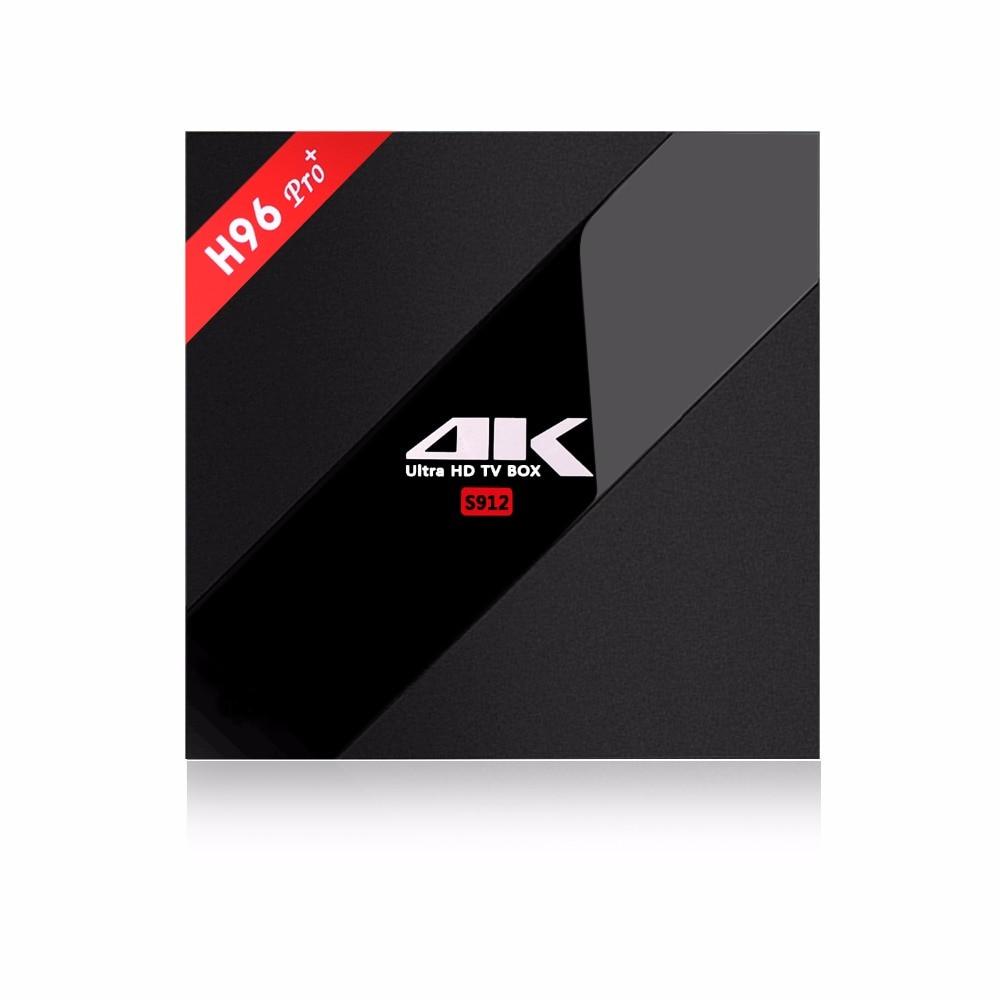 Prix pour H96 PRO PRO + 3G/32G Android 7.1 TV Box Kodi Amlogic S912 64bit Octa Core H.265 4 K Wifi 2.4G & 5.0G Bluetooth4.0 Médias lecteur