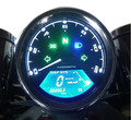 Freeshipping  Universal 12000RMP LCD Digital Speedometer Odometer Tachometer 1-4 Cylinders motorcycle digital gauge