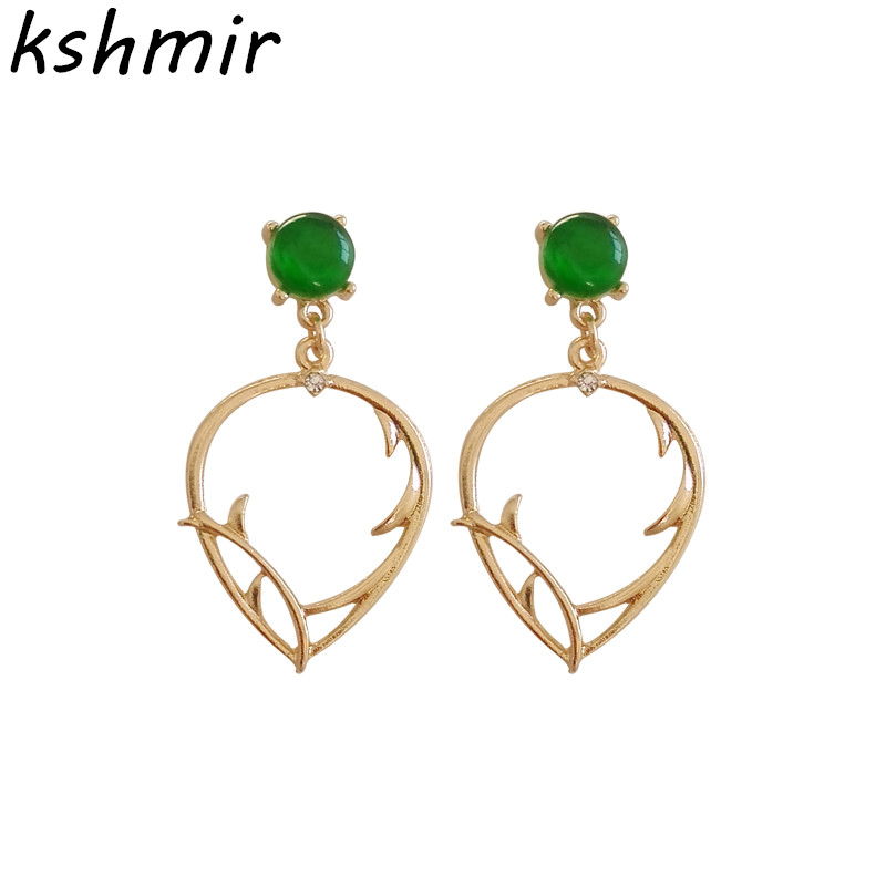 Elegant ladies fashion temperament infected earring stud earrings wholesale