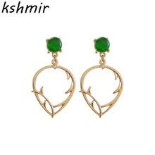 Elegant ladies fashion temperament infected earring stud earrings wholesale
