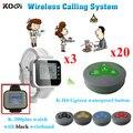 Restaurant Wlan-service Call-System Anrufglocke Mit 3 Armbanduhr Und 20 Summer Für Kunden Verwenden Ce-zertifizierung