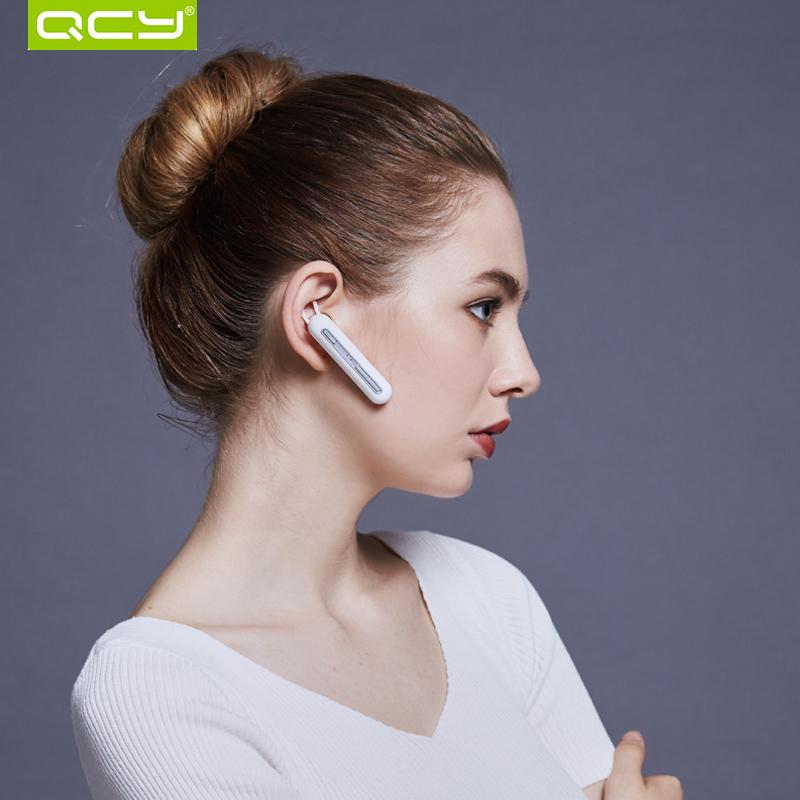 QCY Q30 business headset wireless earphone with dual Mic bluetooth V4.2 headphone with large battery qcy q26 mono earbud business mini headset car calling wireless headphone bluetooth earphone with mic for iphone 6 7 s8 android