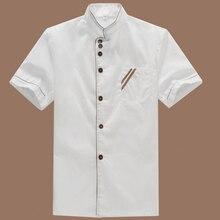 Сюртуках повар отель шеф-повар униформа летняя рабочая питание коротким кухня куртка