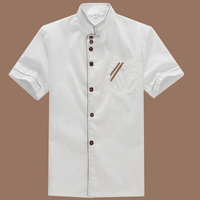 New Summer Kitchen Chef Jacket Uniforms Short Sleeve Plus Size Cook Clothes Food Services Frock Coats