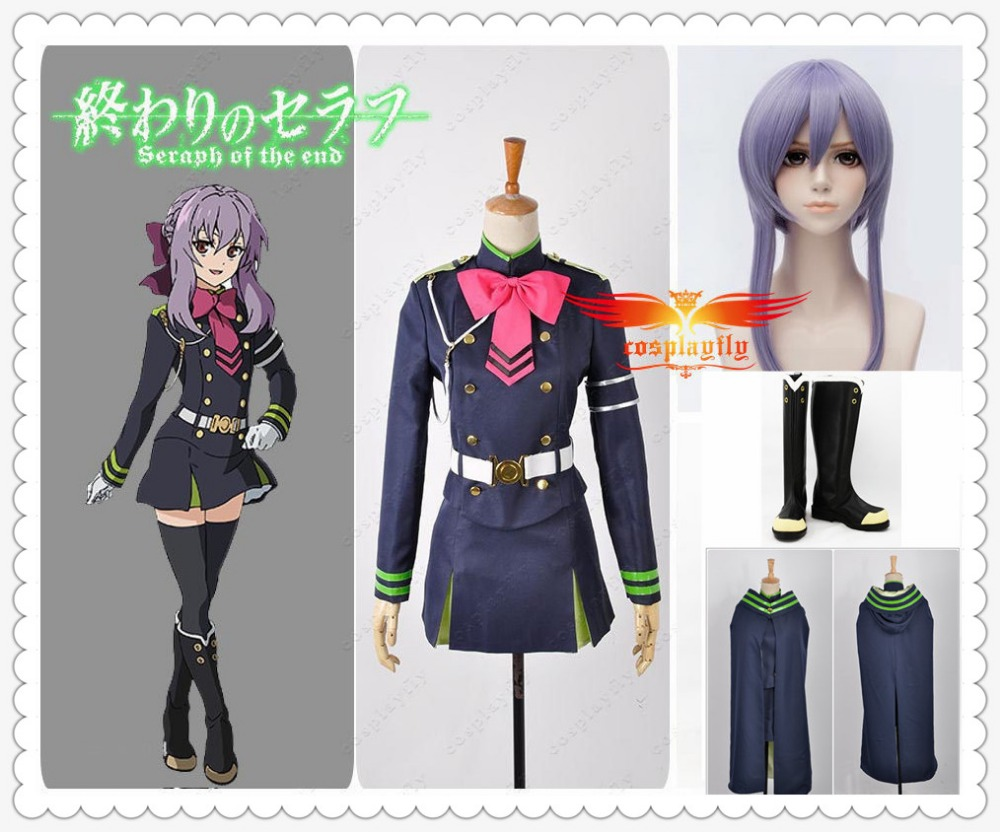 Halloween Cos Seraph Of The End Hiiragi Shinoa Female Cos Costume Fancy Dress