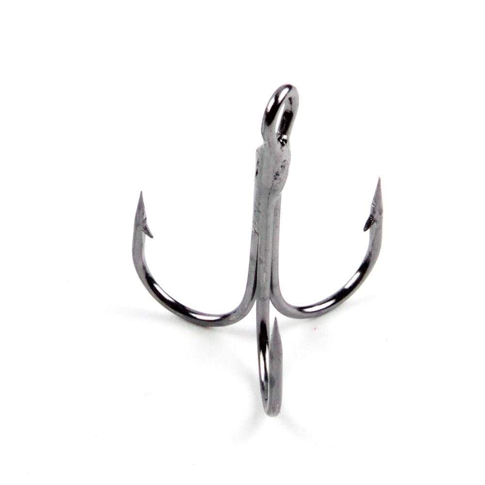 FISHKING Dacro Treble Hook 3/0 # 2/0 # 1/0 # 1 # -16 # Kulstofstål - Fiskeri - Foto 2