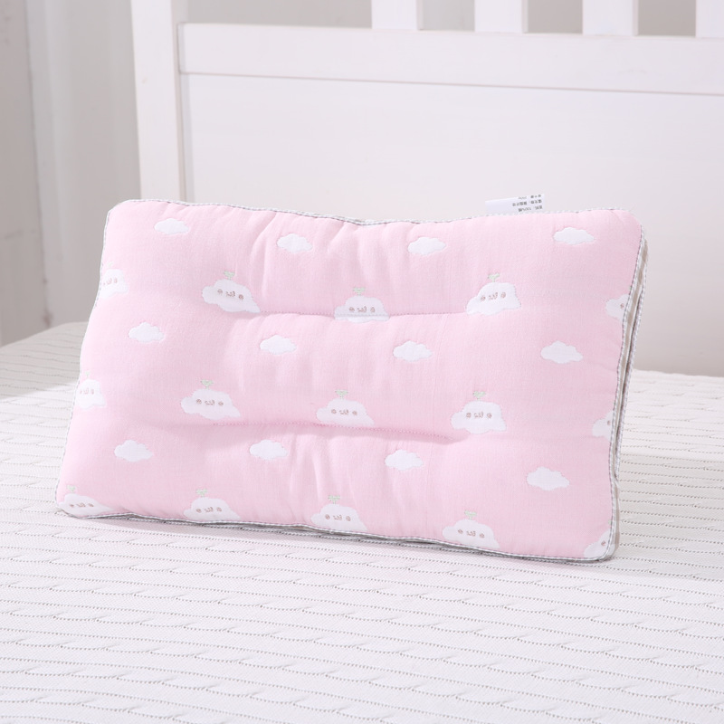 Lovely Baby Pillows Toddler Bedding Pillows Cotton Kids Sleeping Positioner Newborn Boy Girl Head Cushion Anti Roll Support Pad