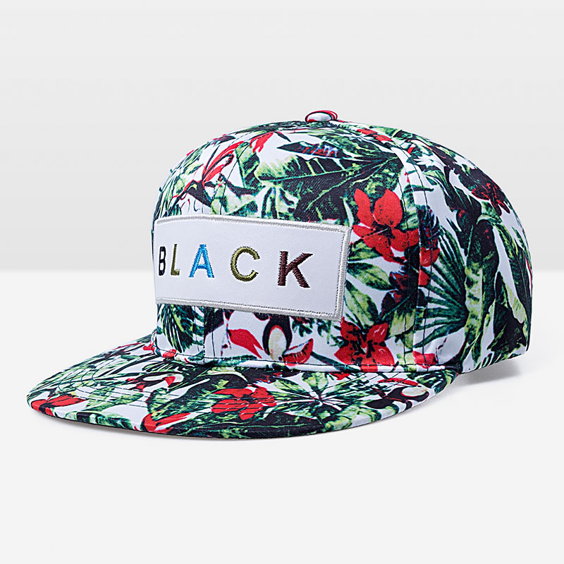 Flower Label Snapback Cap Hip Hop s