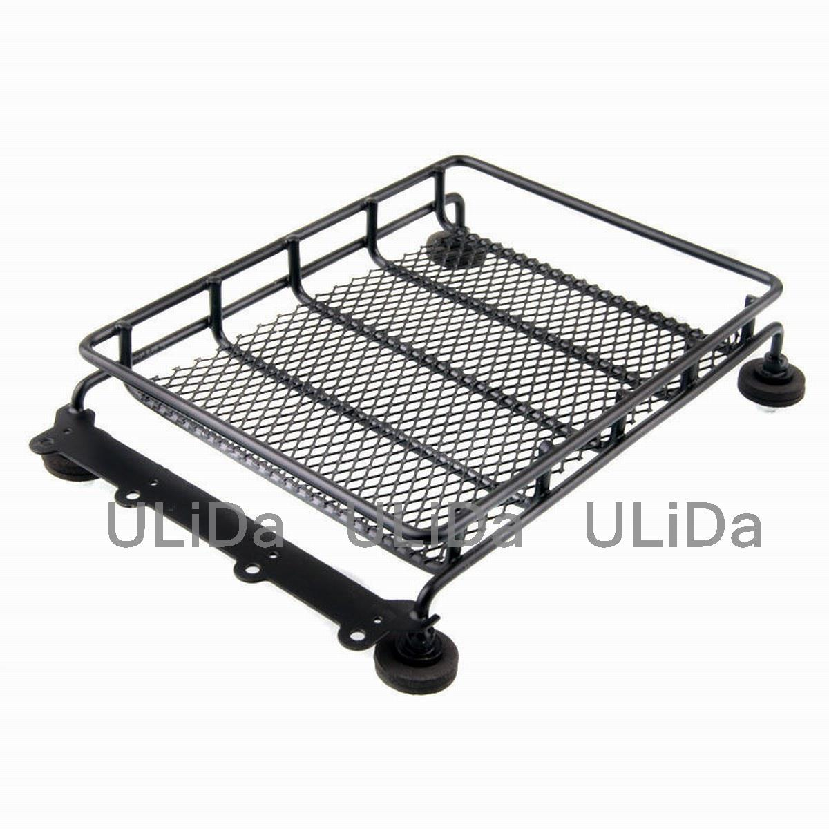 Aluminum Luggage Tray Roof Rack (L) For 110 RC Car Truck Tamiya Axial bbq fuka 2pcs car aluminum abs silver luggage carrier top roof rack cross bars fit for compass 2017 car styling car accessories