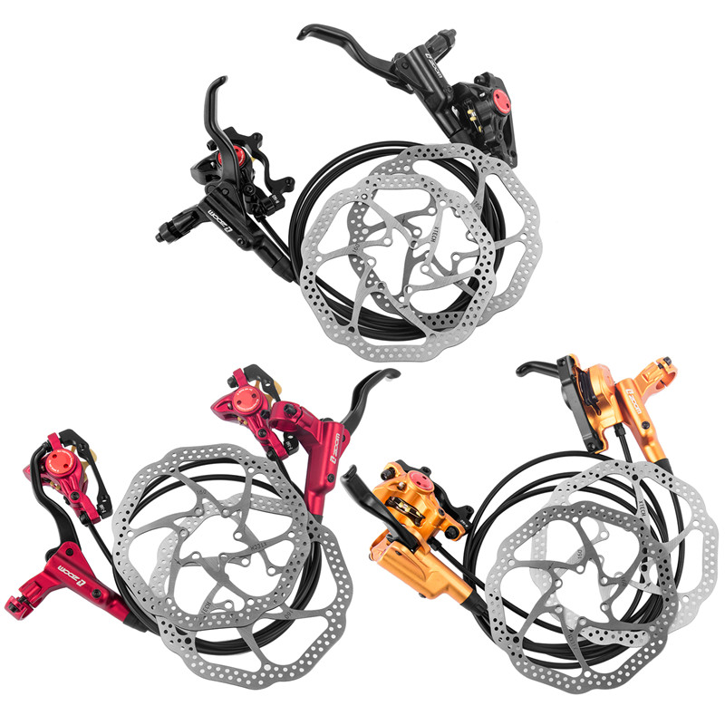 Taiwan ZOOM HB-875 Mtb Bike Hydraulic Disc Brake Set With Rotors 160 mm Disc Brake Kit Bike Parts 3 Colors 2018 anima 27 5 carbon mountain bike with slx aluminium wheels 33 speed hydraulic disc brake 650b mtb bicycle