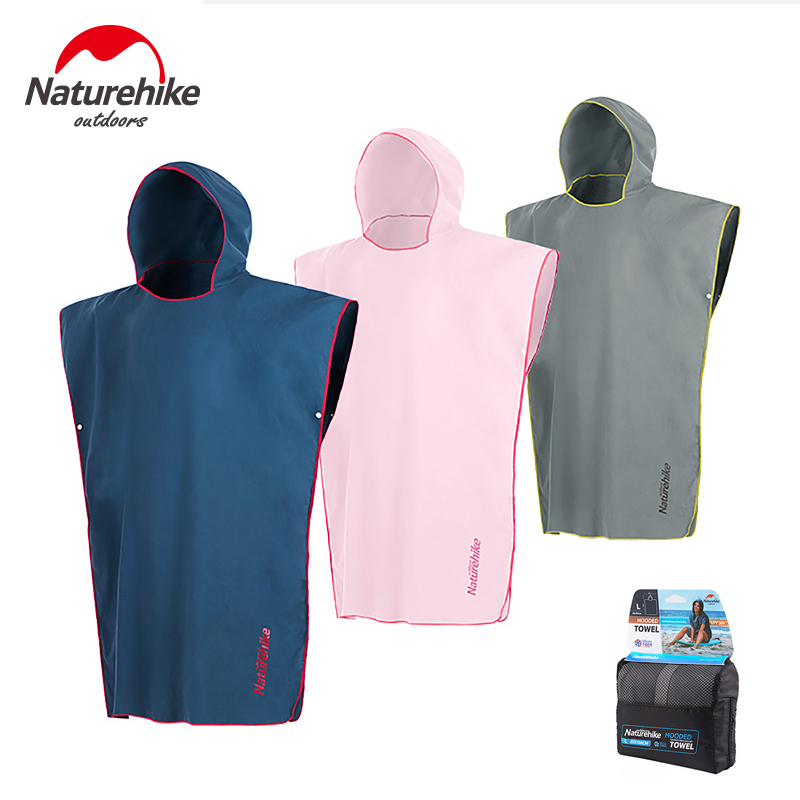 Naturehike Camping Swimming Pool Beach Towel Compact Quick Dry UV Protection Hooded Bathrobe Hiking Travel Water Sports Towels