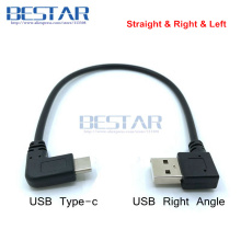 USB 3.1 Type c Male Right Angle to USB 2.0 A Male Left Right Angled adapter 25cm USB-C USB type-c angle Data charge Short cable angular usb 3 0 para usb 3 1 usb c tipo c cabo 1 m 3ft 90 graus suporte 5 gbps direcao right angled 5 v 2a