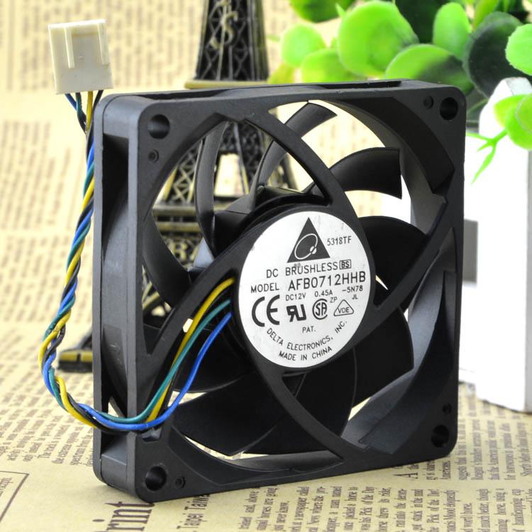 Cpu Heatsink Pwm 7015-Cooling-Fan 4PIN Afb0712hhb Original 70--70--15mm