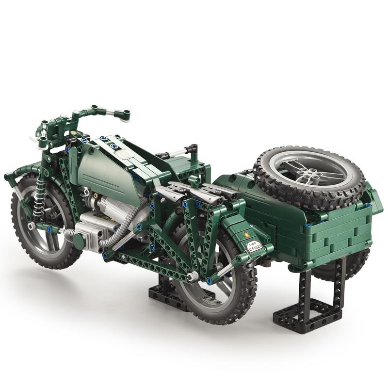 629 pièces WW2 série militaire RC moto Compatible avec la technologie des blocs de construction briques modèle armée soldats arme véhicules - 3