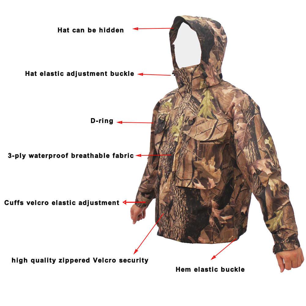屋外防水迷彩フライフィッシング狩猟通気性ウェーダーワタリジャケット戦術的な狙撃スーツ服釣り服