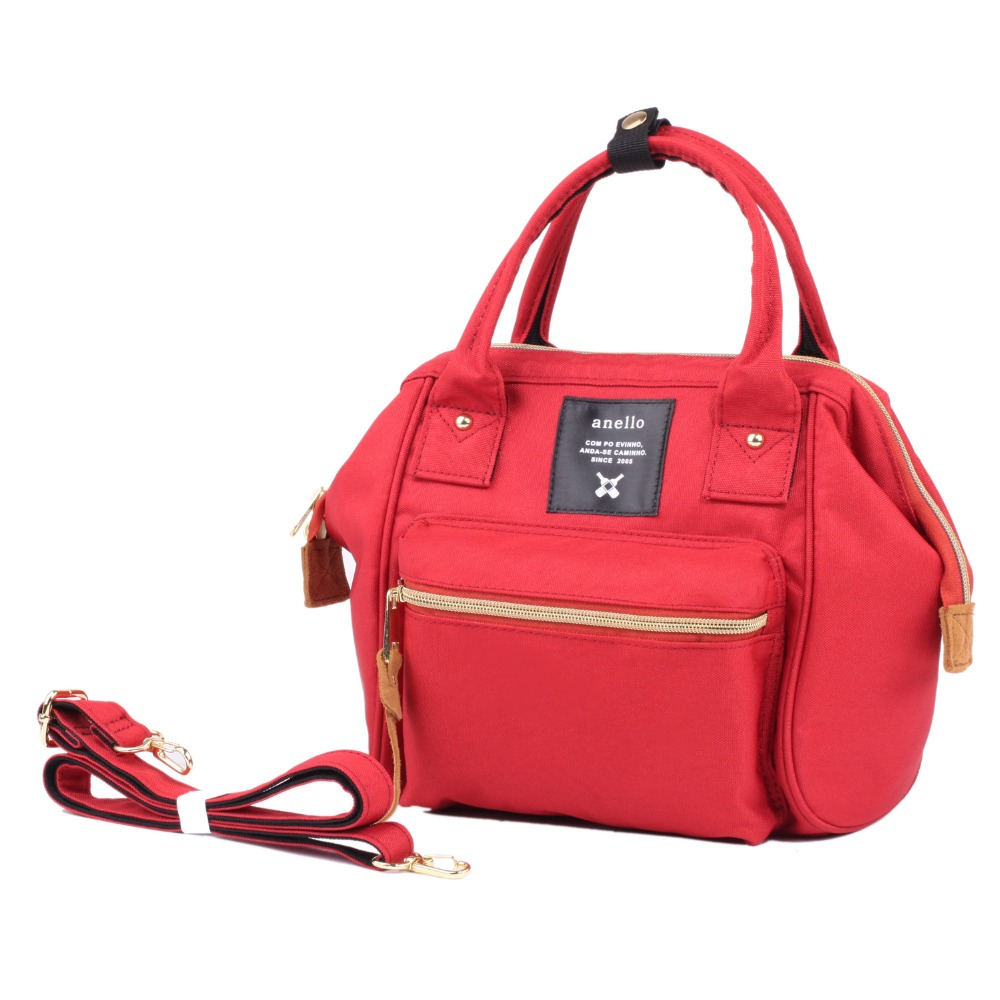 2017 New Boston Girl Women bag Red Color Canvas Womens Handbag Messenger The Students Inclined Shoulder Bag Dual-use