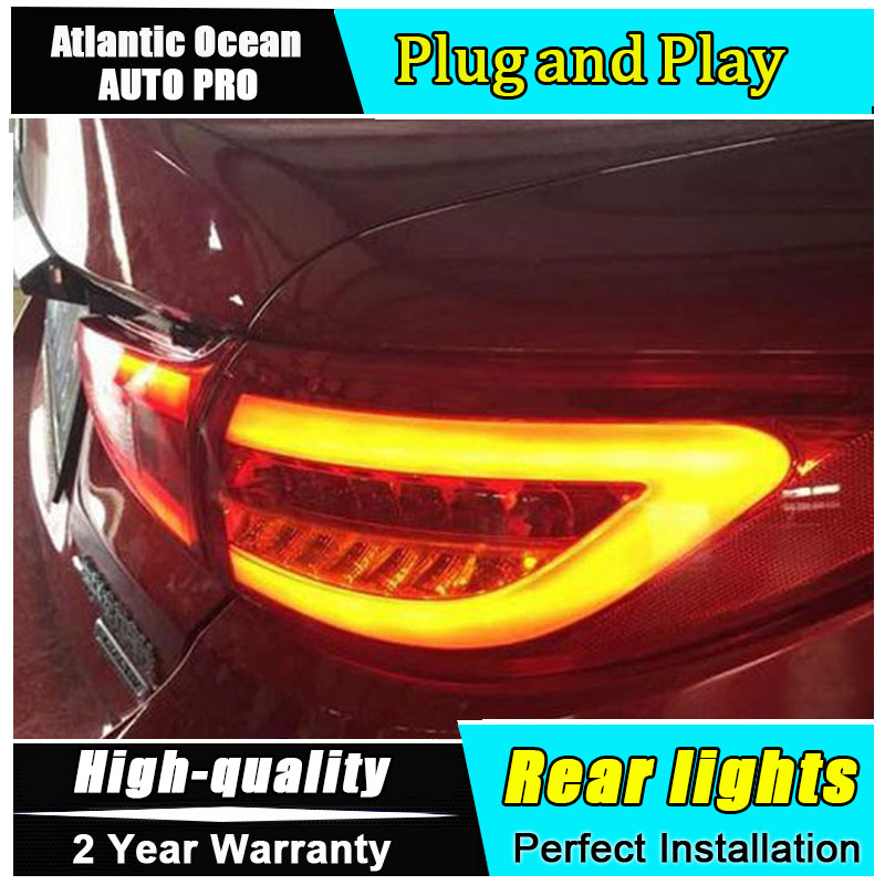 AUTO.PRO for Mazda 6 taillights Mazda 6 ATENZA rear lights 2014 2015 led rear trunk lamp cover+signal+brake+reverse car styling