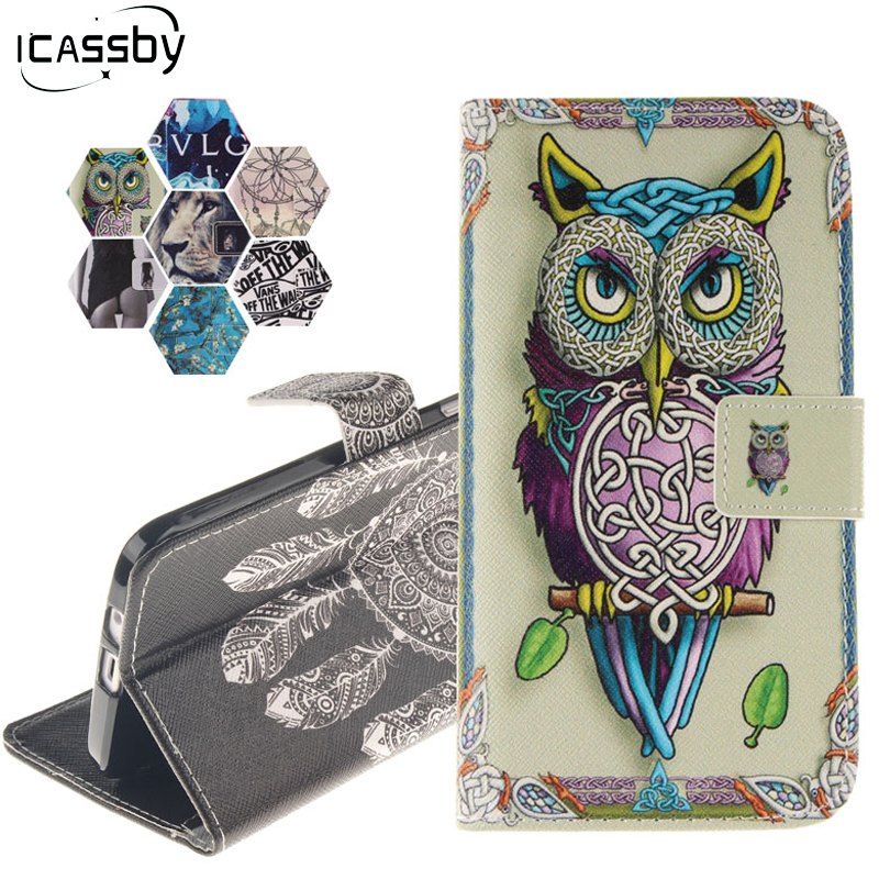 For Microsoft Lumia 630 Case Fashion Painted Magnetic Flip Wallet PU Leather Coque Case For Microsoft Nokia Lumia 630 Cover Etui