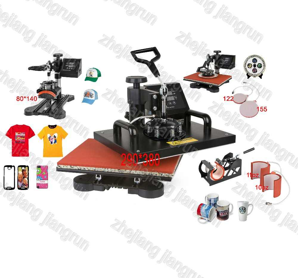 Canggih Desain Baru 6 In 1 Mesin Sublimasi Digital Tshirt Mesin Heat Press/Panas Transfer mug Mesin Printer