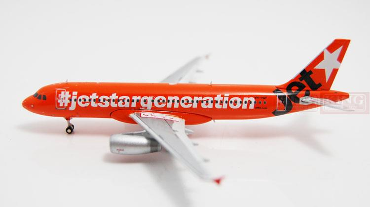 JC Wings XX4870 A320 VH-VGF 1:400 Jetstar commercial jetliners plane model hobby