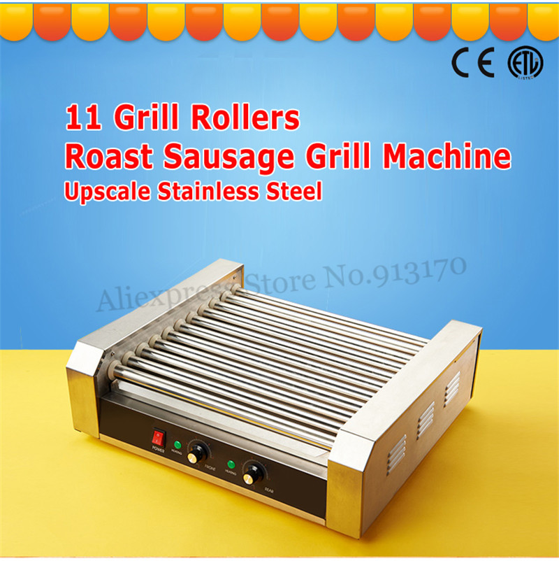 Commercial Electric Hot Dog Maker Warmer 11 Rollers Grill Cooker Roasting Machine 2200-Watt Low Noise cricket noise maker