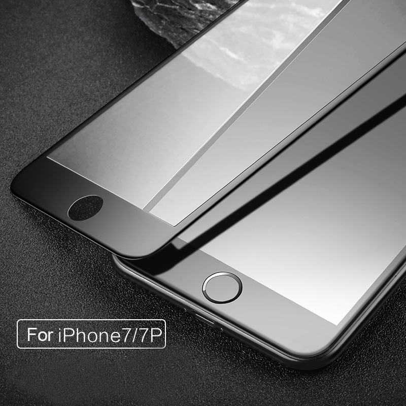 Vpower For Apple iPhone 7 7 Plus Tempered Glass Screen Protector Ultra Thin 3D Soft Side Edge 9H Protective Glass Film in Phone Screen Protectors from Cellphones Telecommunications