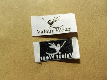 Envío Gratis Personalizado Final Doble Bordado De Prendas De Vestir Etiquetas Etiqueta Tejida Y Etiquetas Para Ropa 1000 Unids/pack