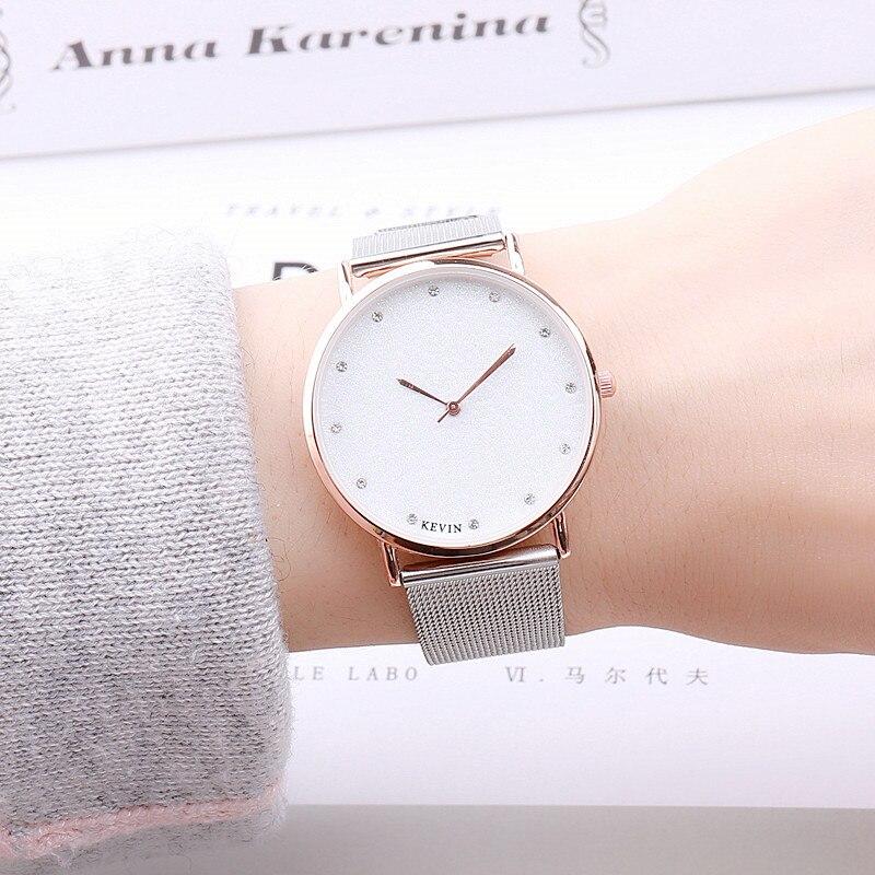 New Luxury Men's Watch Women's Ultra Thin Stainless Steel Fashion Casual Watch Female Male Wristwatch Lovers Watch 5