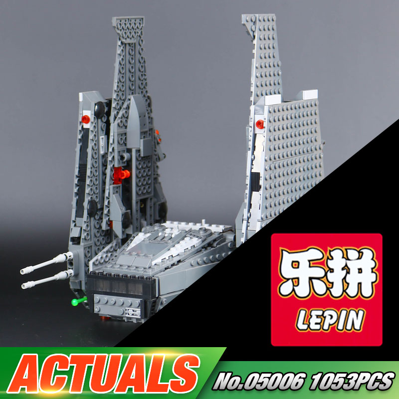 LEPIN 05006 Star Series War Hot Sale 1053pcs The Command Shuttle Set 75104 Educational Building Bricks Blocks Kid's Toys rollercoasters the war of the worlds
