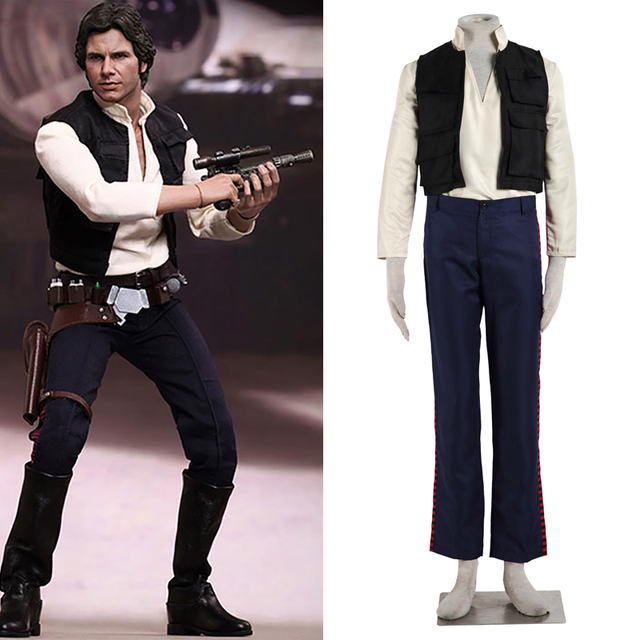 Movie Star wars cosplay costume Han Solo costume adult Halloween costumes for men cosplay Han Solo  sc 1 st  AliExpress.com & Movie Star wars cosplay costume Han Solo costume adult Halloween ...