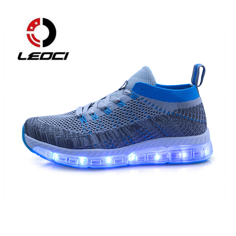 Led Luminous Shoes Men Women Running Shoes Light Up USB Charge Glowing Lovers Sneakers Jogging Homme Zapatillas Mujer Deporte glowing sneakers usb charging shoes lights up colorful led kids luminous sneakers glowing sneakers black led shoes for boys