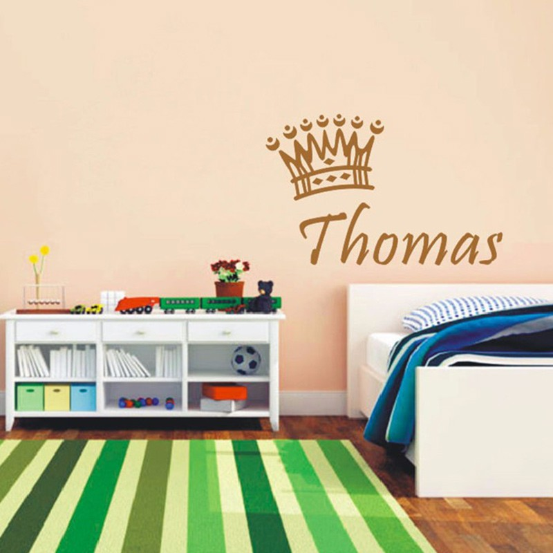 New Personalized Baby Boys Name Custom Wall Stickers Baby Exclusive