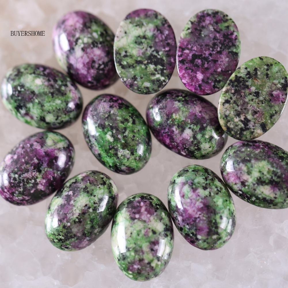 18x13MM Natural Stone Red Zoisite Jewelry CAB Cabochon Free Shipping 10PCS K1595