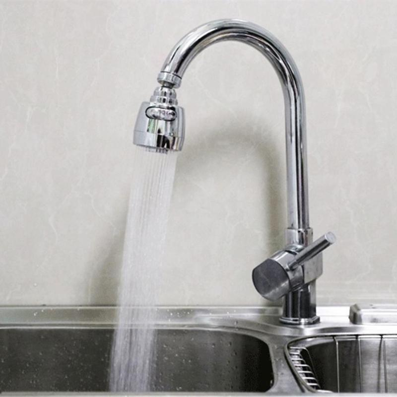 360 Rotatable Bent Water Saving Tap Aerator Diffuser Faucet Nozzle Filter Water Swivel Head Kitchen Faucet Connector Parts