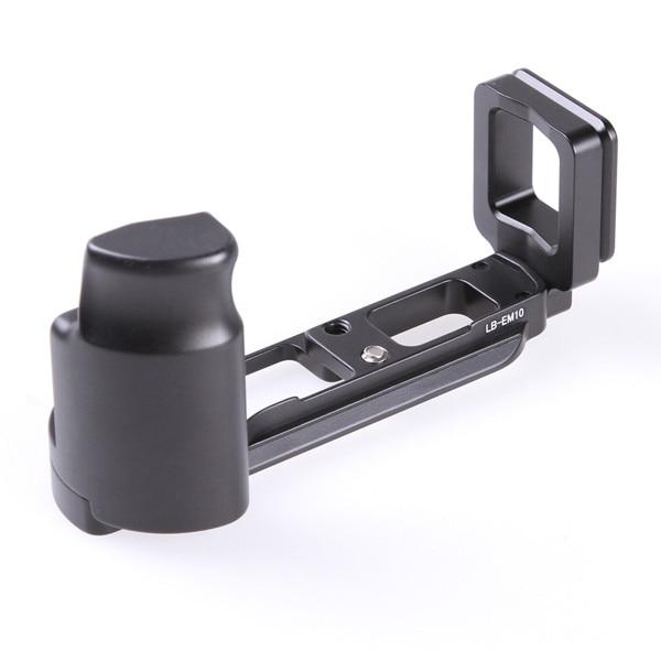 Vertical L Type Bracket Tripod Quick Release Plate Base Handle Grip For Olympus OMD EM10 ...