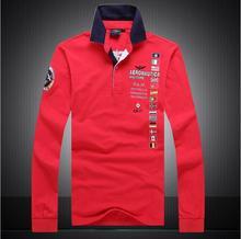 Новый бренд 2017 года AERONAUTICA Militare camisa masculina polo men Футболки с длинным рукавом, высокое качество Воздушные силы одна одежда для акул-поло