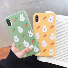 Cute Rabbit Head Carrot Phone Case For iPhone 6 6S 7 8 Puls