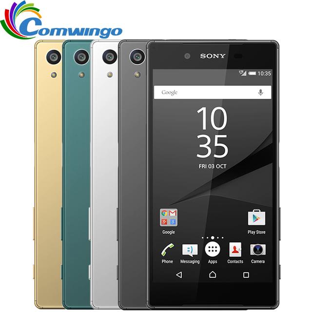 Original sony xperia z5 e6683 dual sim 3g ram 32g rom Teléfono androide Cámara 4G TD-LTE 23.0MP/FDD LTE 5.2 pulgadas Teléfono Celular