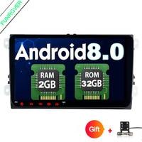 Funrover Android 8 0 Car DVD For VW Passat CC Polo GOLF 5 6 Touran EOS