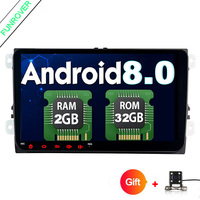 Funrover Android 8 0 Car DVD For VW Passat CC Polo GOLF 5 6 Touran EOS