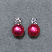 Fashion Classic Pearl Earrings With 8mm Pearl Sterling Silver