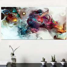 Colorful Ocean Large Abstract Poster Canvas Art Landscape Oil Painting Wall Pictures For Living Room Modern no frame(China)