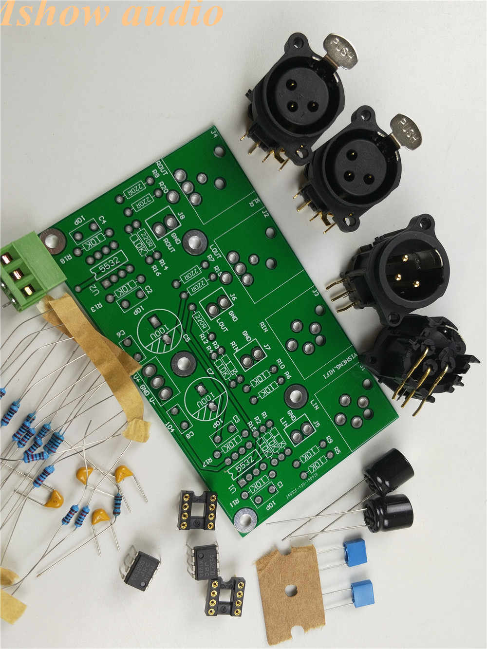 DIY KIT Balanced preamp Board Unbalanced to balanced RCA to XLR for