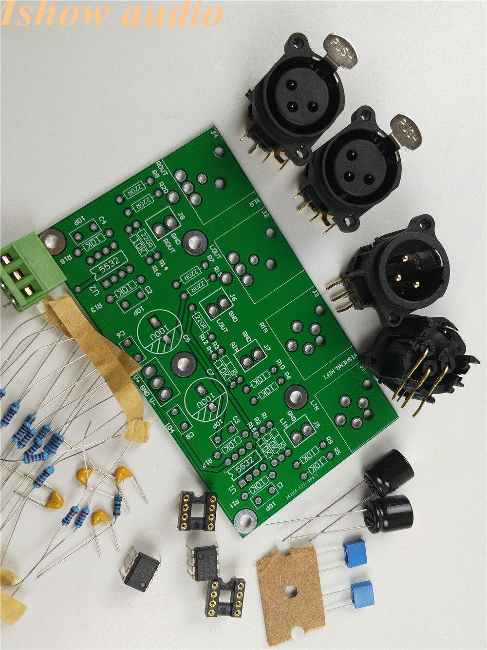 DIY KIT preamp Placa Equilibrada Desequilibrado para RCA para XLR balanceada para HIFI amplificador de ÁUDIO