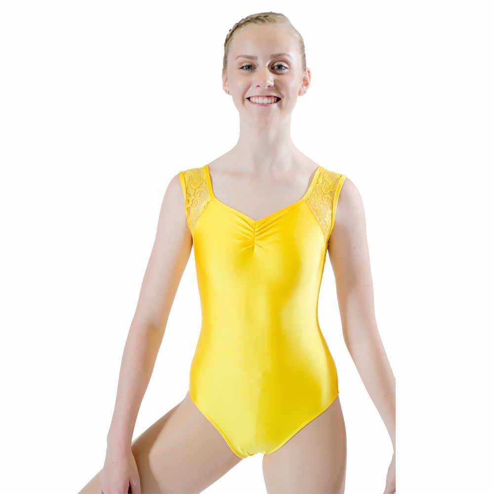 86f7608de3353 Черный блестящая лайкра кружево Танк танец купальник Розовый обувь для  девочек одежда танцев синий женский комбинезон