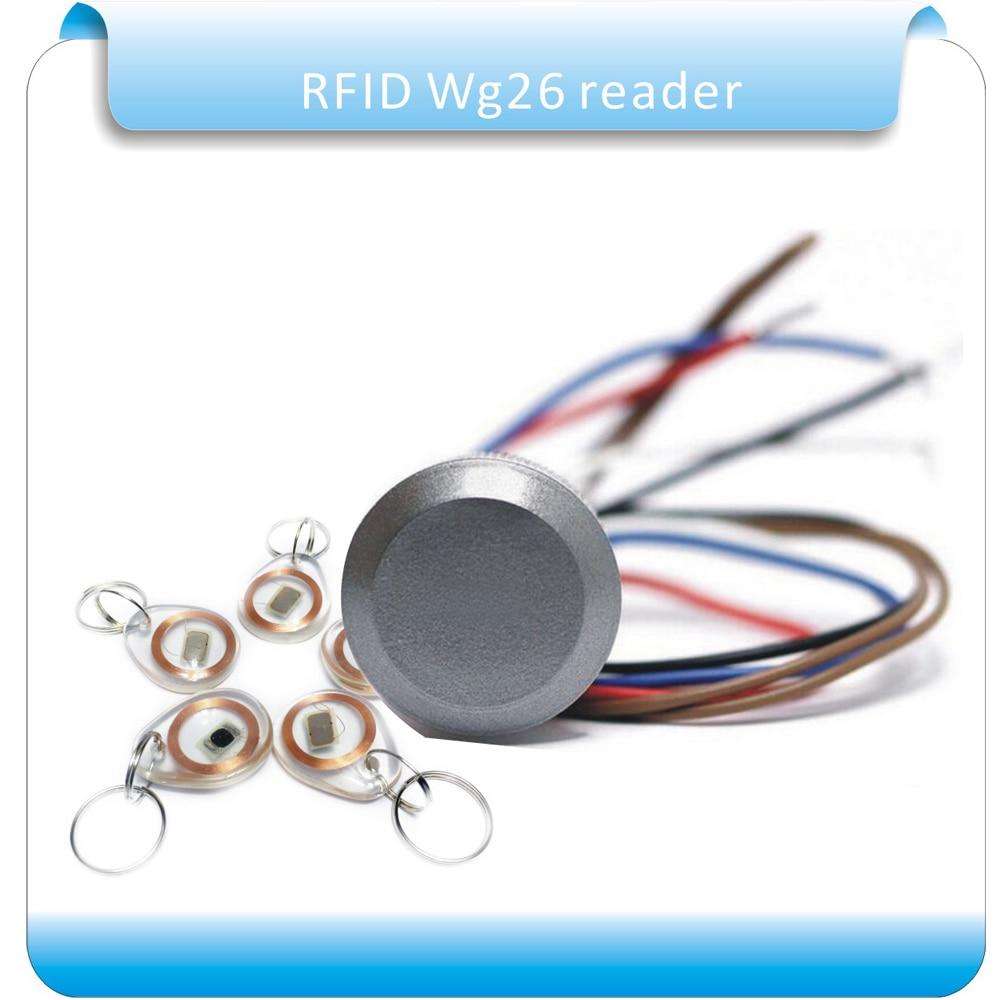 Free shipping RFID frequency Dito reader wiegand26 mini RFID access control Rreader +5pcs crystal keyfobs стоимость