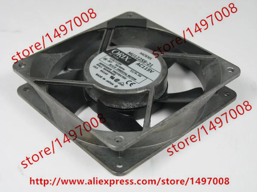 Free Shipping For ORIX MU1225S-21 DC 115V 11/9.5W 2-pin connector 120x120x25mm Server Square Cooling Fan a975got tbd b