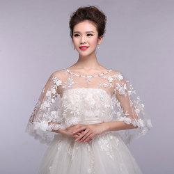 Elegant red ivory off shoulder bridal lace bolero crystal cape low front long back shrug women.jpg 250x250