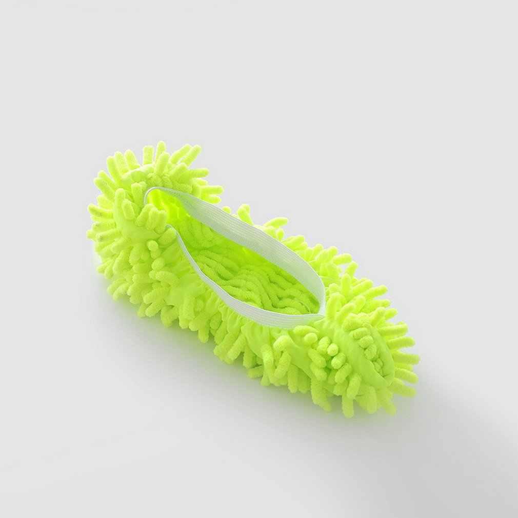 Multi-función de polvo plumero fregona Zapatillas Zapatos cubierta lavable reutilizable de microfibra de calcetines de pie piso Herramientas de limpieza de la cubierta del zapato