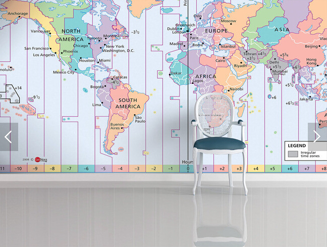 Custom photo wallpaperworld time zone map 3d wallpaper for living custom photo wallpaperworld time zone map 3d wallpaper for living room bedroom tv hanging ceiling background wall pvc wallpaper in wallpapers from home gumiabroncs Choice Image